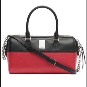 NWT Calvin Klein Tonya Leather Satchel